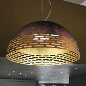 BRAGA Zvonka hrdza vnútri zlato LED závesné svetlo Greka