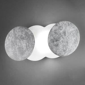 BRAGA Variabilné nástenné LED svietidlo Nuvola, striebro