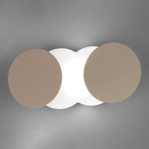 BRAGA Variabilné nástenné LED svetlo Nuvola sivo-hnedé