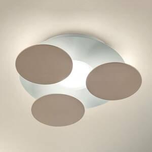 BRAGA Okrúhle stropné LED svietidlo Nuvola v sivo-hnedej
