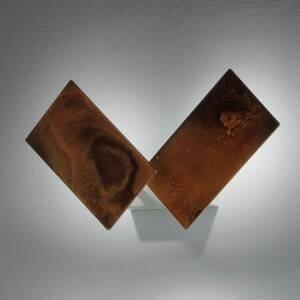BRAGA Oxidovaný kovový vzhľad nástenné LED svetlo Time