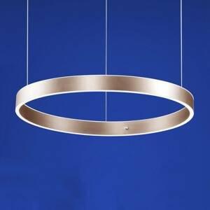 B-Leuchten B-Leuchten Delta závesné LED 60cm, ružové zlato