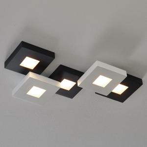BOPP Bopp Cubus – čiernobiele stropné LED svetlo 5-pl