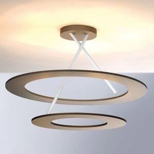 BOPP Bopp Stella stropné LED 2 kruhy taupe/biele