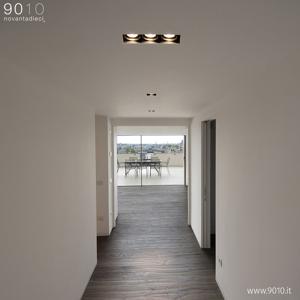 9010 Stropné zapustené svietidlo 4246C, dĺžka 32cm