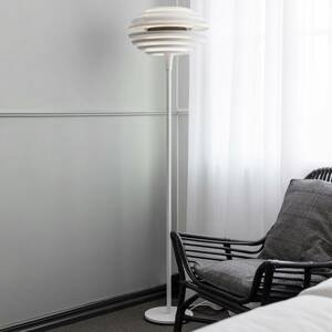 BELID Stojaca lampa Ellipse so stmievačom biela/chróm
