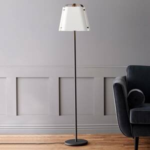 BELID Stojaca lampa Wrap s kovovým tienidlom