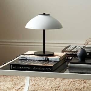 BELID Stolná lampa Vali, výška 25,8cm, čierna/biela