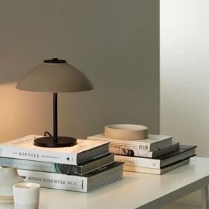 BELID Stolná lampa Vali, výška 25,8cm, čierna/béžová