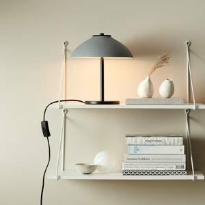 BELID Stolná lampa Vali, výška 25,8cm, čierna/sivá
