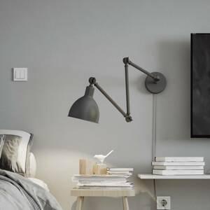 By Rydéns By Rydéns Bazar nástenné svietidlo zástrčka sivé