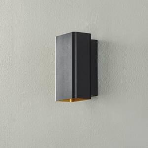 BEGA BEGA Studio Line nástenné úzke čierne/zlaté 18cm