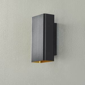 BEGA BEGA Studio Line nástenné úzke čierne/zlaté 22cm