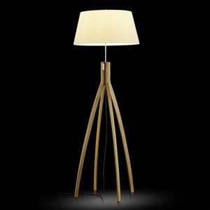 BANKAMP BANKAMP stojaca lampa Memphis dubové drevo a látka