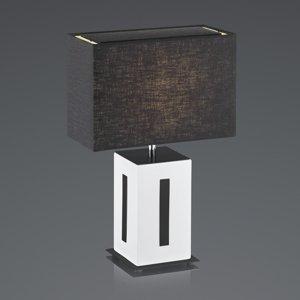 BANKAMP BANKAMP Karlo stolná lampa biela/čierna výška 47cm