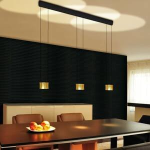 BANKAMP BANKAMP Impulse závesné LED svietidlo 3-pl. zlatá