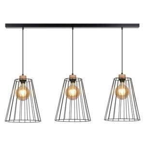 EULUNA Závesná lampa Cailand s 3 klietkovými tienidlami