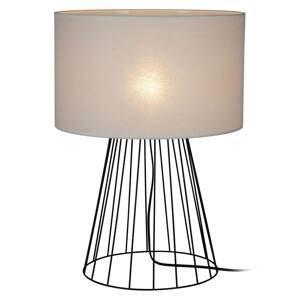 BRITOP Stolná lampa Valene s textilným tienidlom, 69,5cm