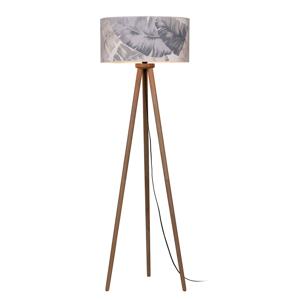 EULUNA Stojaca lampa Lobos potlačené papierové tienidlo