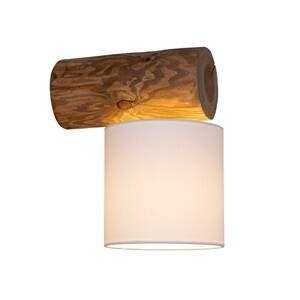 BRITOP Nástenné svietidlo Pino Simple, biele, rám hnedý