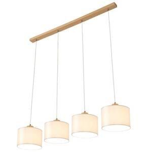 BRITOP Závesná lampa Corralee, sivá, 4-plameňová