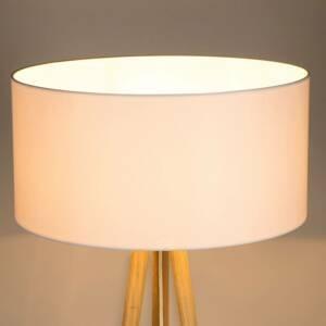 BRITOP Stojaca lampa Corralee trojnožka, tienidlo biele
