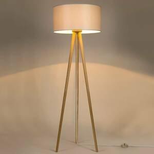 BRITOP Stojaca lampa Corralee trojnožka, tienidlo sivé