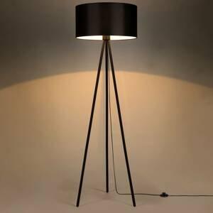 BRITOP Stojaca lampa Corralee trojnožka, tienidlo čierne