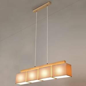 BRITOP Závesná lampa Cassy štyri sivé textilné tienidlá