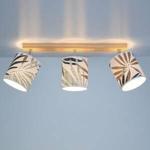 BRITOP Stropné svietidlo Jaro s potlačou, 3-plameňové