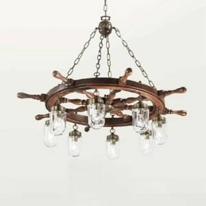 Cremasco Veľká závesná lampa Timone s čírymi sklami