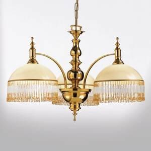 Cremasco Vznešená závesná lampa Corola s ozdobným závesom