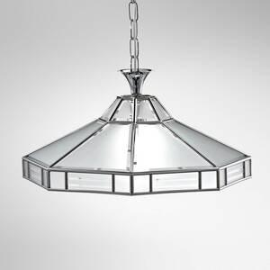 Cremasco Osemuholníková závesná lampa Giana, chróm