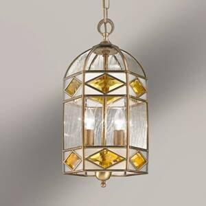 Cremasco Emilia – závesná lampa s katedrálnym sklom