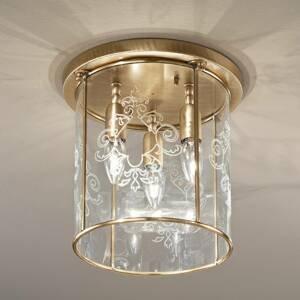 Cremasco Bronzované stropné svietidlo Greta, 3-pl.