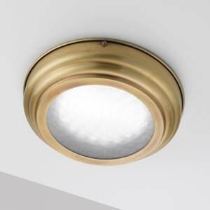 Cremasco Stropné LED Scirocco 30cm, mosadz satinovaná
