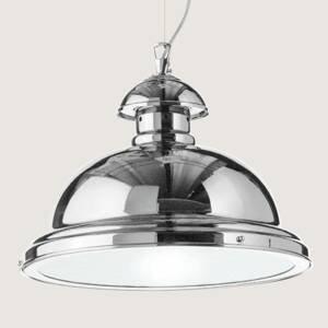 Cremasco Závesná lampa Scirocco, 35cm lesklý chróm
