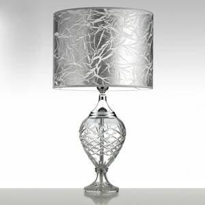 Cremasco Stolná lampa Belle Epoque, 59cm chróm