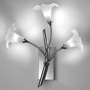 Cremasco Nástenné svietidlo 7142-3-plameňové, chróm/číra