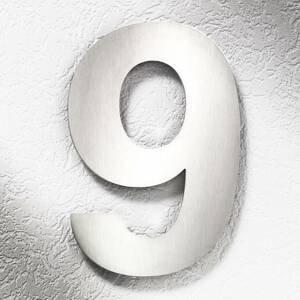 CMD Číslo domu, oceľ, veľké 9