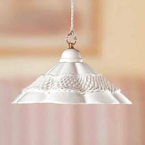 Ceramiche Závesná lampa Gonnella, ozdobný kraj v strede