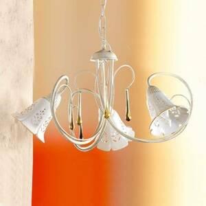 Ceramiche Závesná lampa Gocce 3-plameňová
