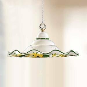 Ceramiche Závesná lampa GIRASOLA šarm vidieckeho domu 41cm