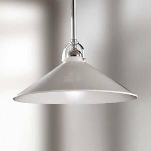 Ceramiche Biela závesná lampa GIACOMO s keramickým tienidlom