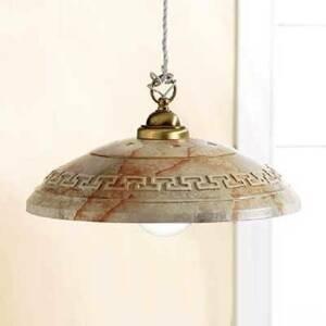 Ceramiche Závesná lampa GRECA MARMO