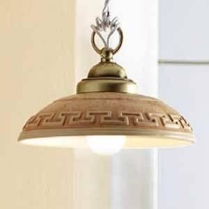Ceramiche Závesná lampa GRECA MEDITERRANEO