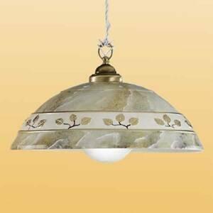 Ceramiche Závesná lampa FOGLIE MARMO MARRON