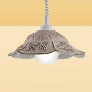 Ceramiche Závesná lampa VITELA s rustikálnym vyžarovaním