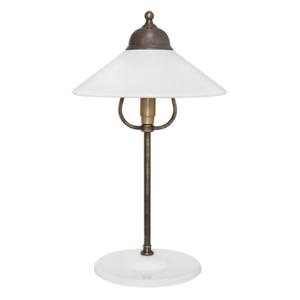 Ceramiche Stolná lampa Ike, mosadz