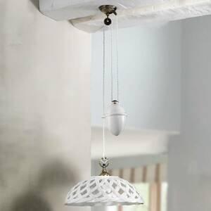 Ceramiche Závesná lampa Emanuel Keramik výškovo nastaviteľná